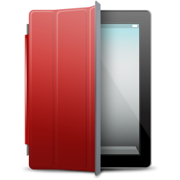 cover, ipad, red icon