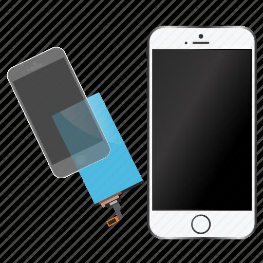 glass, iphone, lcd, repair, screen, smartphone icon