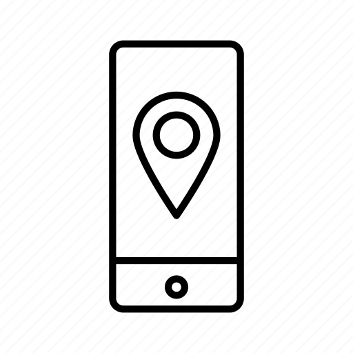 device, directions, iphone, map, mobile, screen, smartphone icon