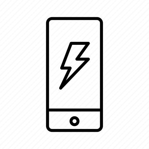 charging, device, iphone, lightning, mobile, screen, smartphone icon