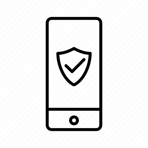 device, iphone, mobile, protection, screen, shield, smartphone icon