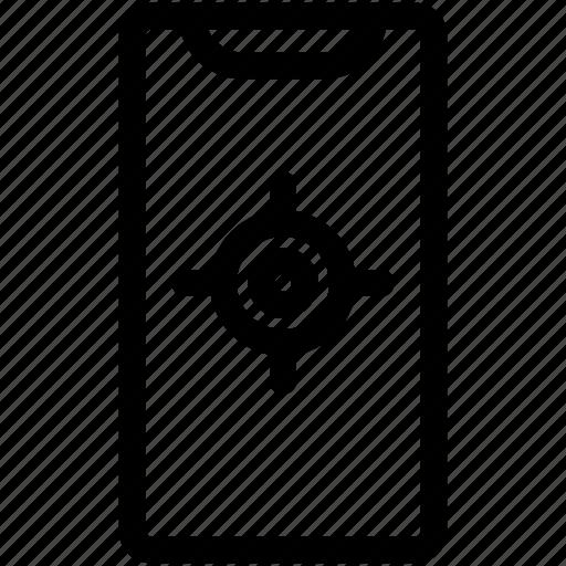 gps, iphone x, map, navigate, navigation icon