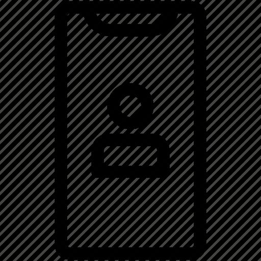 face id, iphone x, profile, user icon