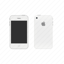 apple, iphone4, white icon