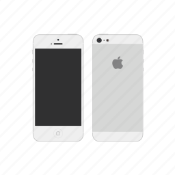 apple, iphone 5s, white icon