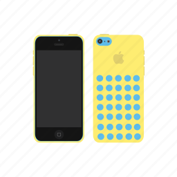 apple, iphone, iphone 5c, yellow icon
