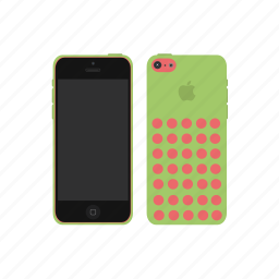 apple, green, iphone, iphone 5c icon