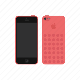 apple, iphone, iphone 5c, red icon