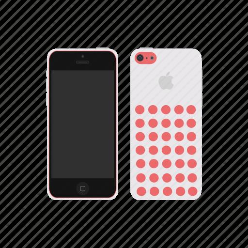 apple, iphone, iphone 5c, white icon