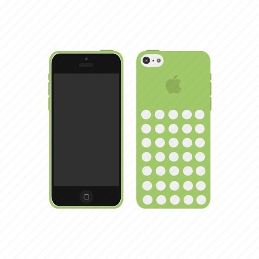 apple, green, iphone, iphone 5c icon