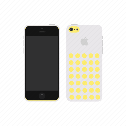 apple, iphone, iphone 5c, white icon