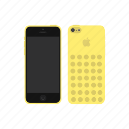 apple, iphone, iphone 5c, yellow icon