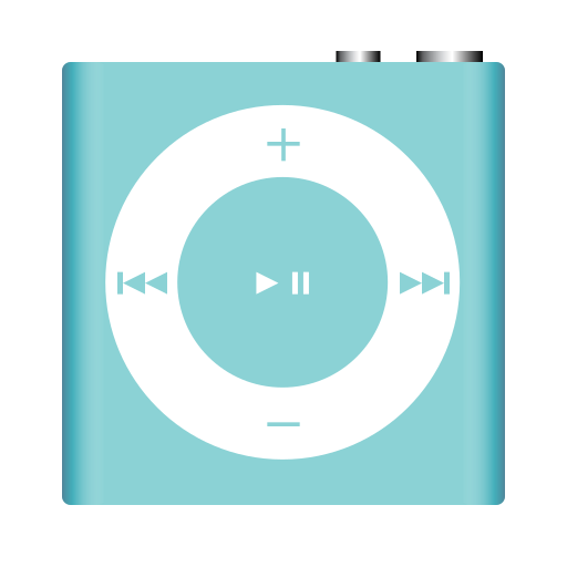 apple, azure, ipod, music, nano, player, shuffle icon