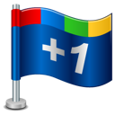 +1, flag, google, google+, one, plus icon