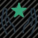 christmas, islam, ramadan, star icon
