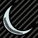 crescent, islam, moon, ramadan icon