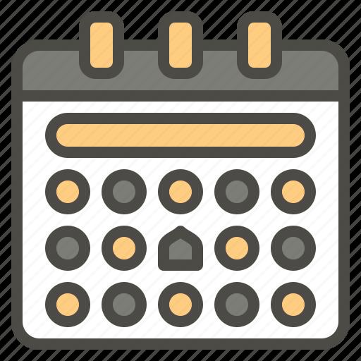 calendar, date, islam, islamic, time icon