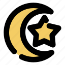 islamic, moon, crescent