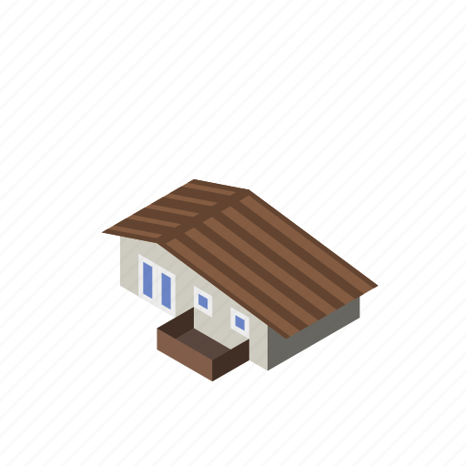 beach, building, home, house, modern, modest, small icon