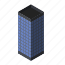 block, building, business, center, glass, office, skyscraper icon