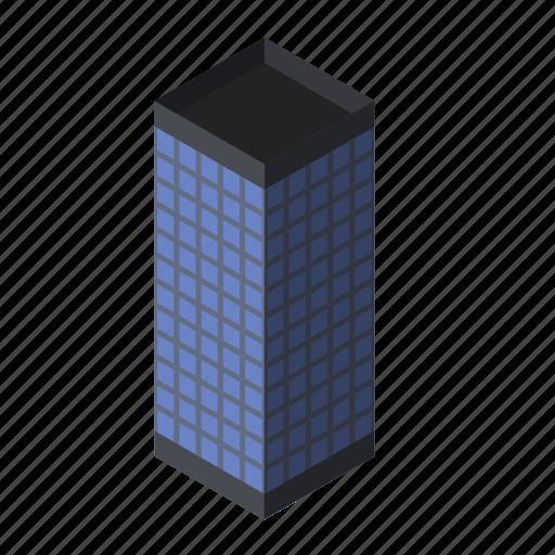 block, building, business, center, glass, office, skyscraper icon