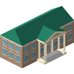 building, court, courthouse icon