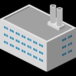 building, factory icon