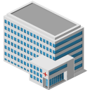 building, hospital icon