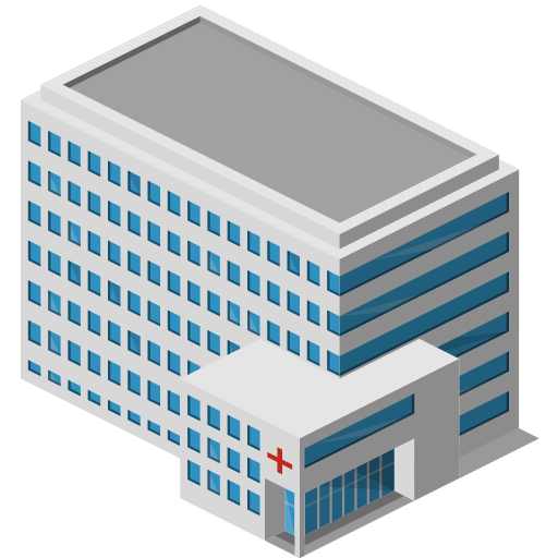 building, hospital icon