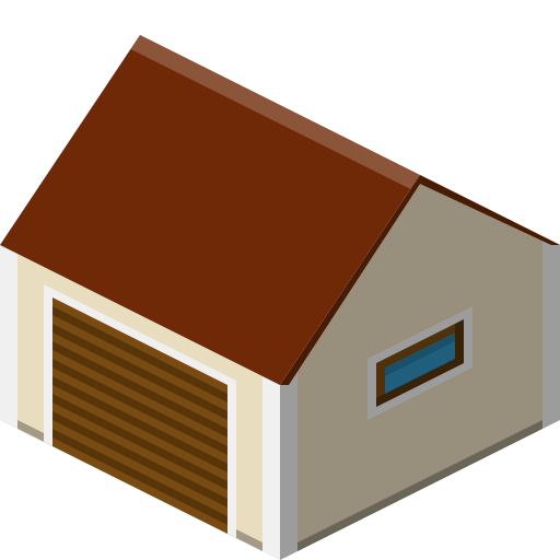 Building, garage icon