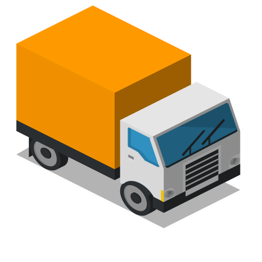 Front, lorry, truck, vehicle icon - Free download