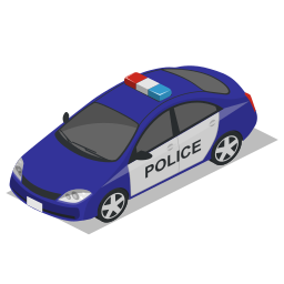 car, police, vehicle icon