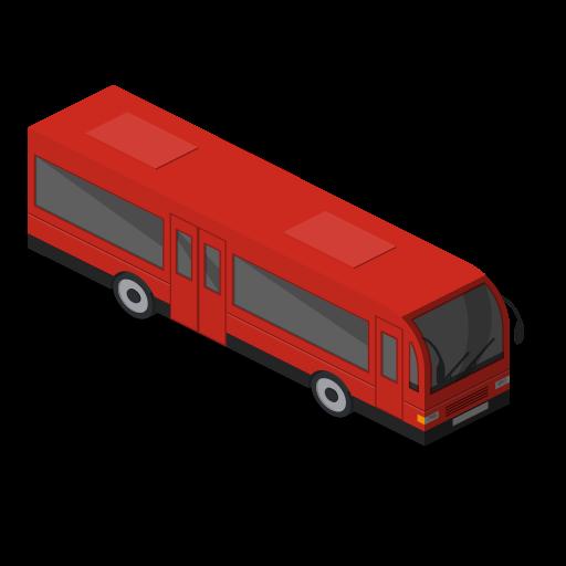 Front, bus, public transport, vehicle icon