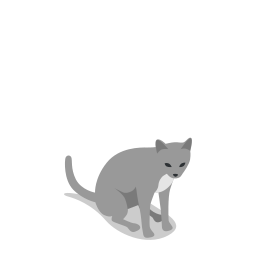 animal, animals, cat, farm, rural icon