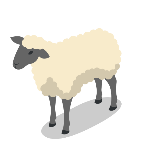 animal, animals, farm, rural, sheep icon