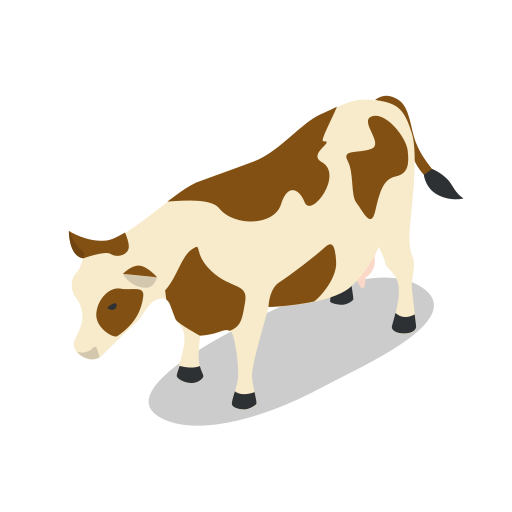 animal, animals, cow, farm, rural icon