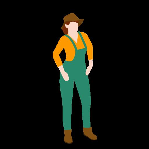 farm, farmer, female, people, standing, woman icon