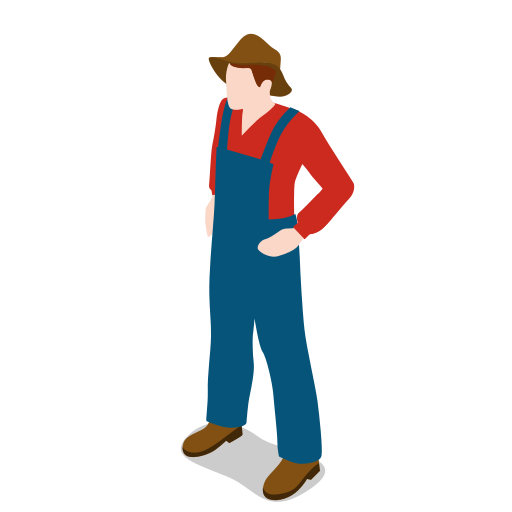 Farm, farmer, male, man, people, standing icon - Free download