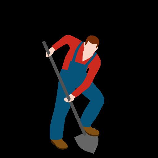 digging, farm, farmer, male, man, people, shovel icon