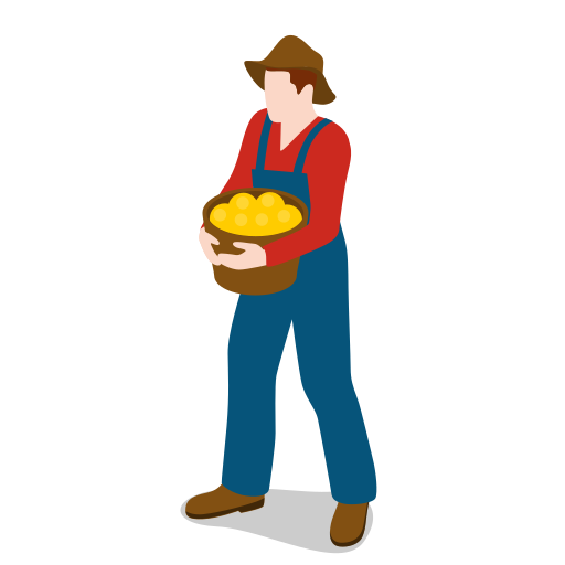 farm, farmer, male, man, people icon