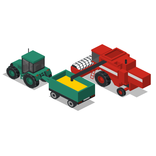 back, combine, farm, rural, tractor, vehicles icon