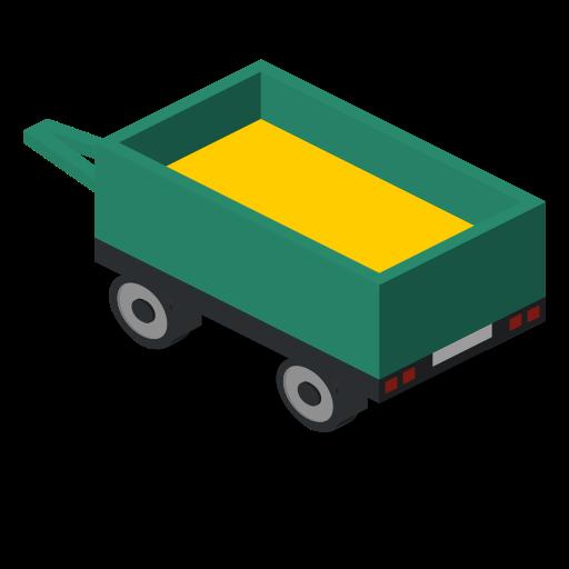 back, farm, rural, trailer, vehicle icon