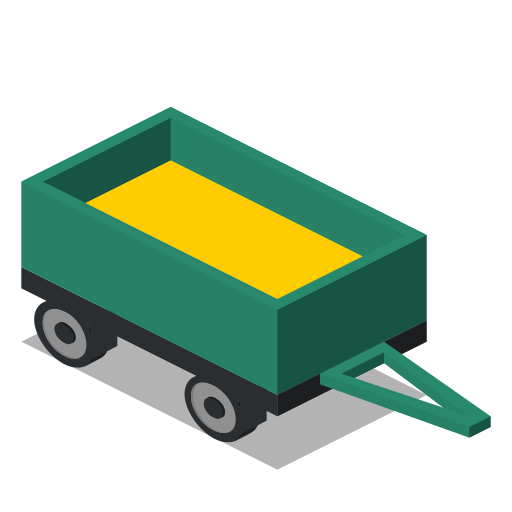 farm, front, rural, trailer, vehicle icon