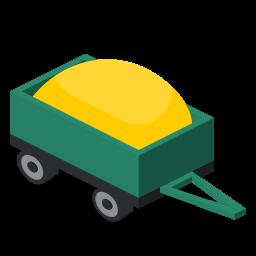 farm, rural, trailer, vehicle icon