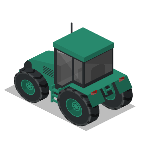 back, farm, rural, tractor, vehicle icon