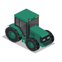 farm, front, rural, tractor, vehicle icon