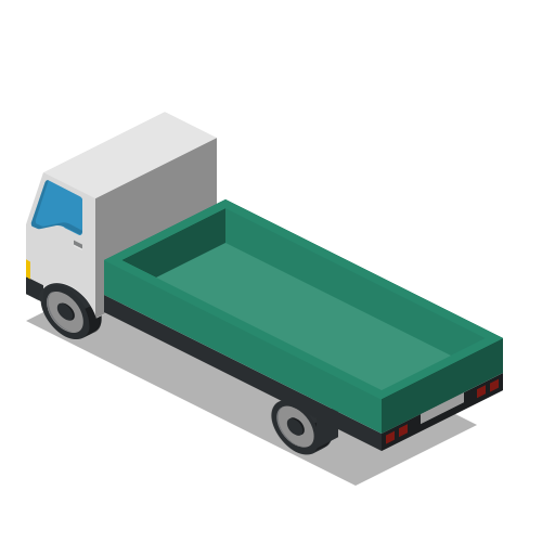 back, farm, lorry, rural, truck, vehicle icon