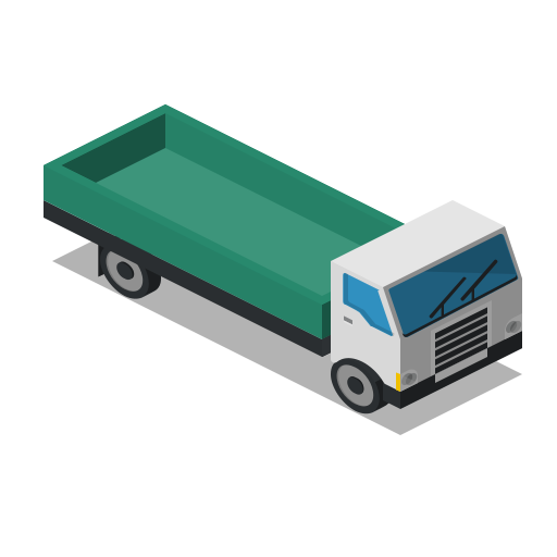 farm, front, lorry, rural, truck, vehicle icon