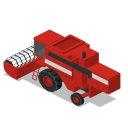 back, combine, farm, rural, vehicle icon