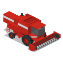combine, farm, front, rural, vehicle icon